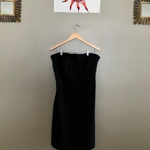 NEW YORK & COMPANY black strapless sparkly dress